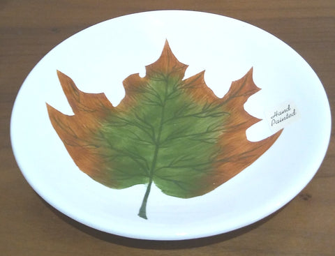 HAND PAINTED FALL LEAF PLATE