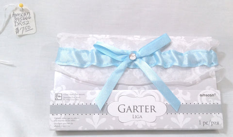 SATIN GARTER LIGHT BLUE