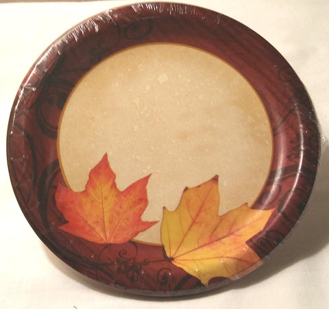 "AUTUMN'S GIFT 6 7/8"" PAPER PLATES"