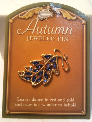 AUTUMN JEWELED PIN