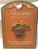 AUTUMN JEWELED PIN/BROOCH