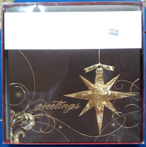GOLD FOIL STAR BOXED GREETING CARDS