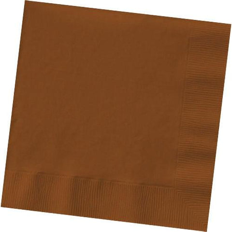 CHOCOLATE BROWN 3 PLY BEVERAGE NAPKINS