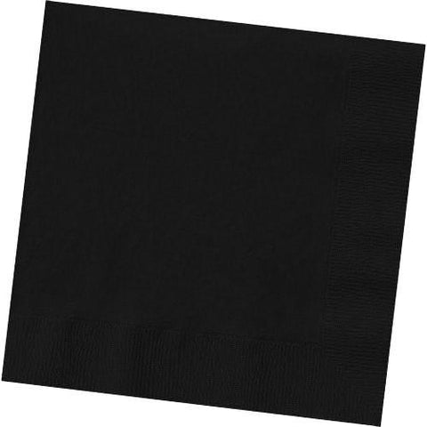 JET BLACK 3 PLY LUNCHEON NAPKINS