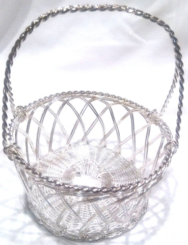 SMALL SILVER PLATED BASKET