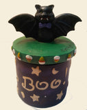 BOO BAT CANDLE JAR