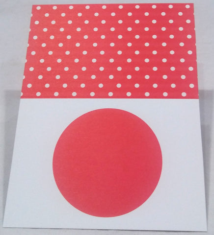 CASPARI RED DOTS PLACE CARDS