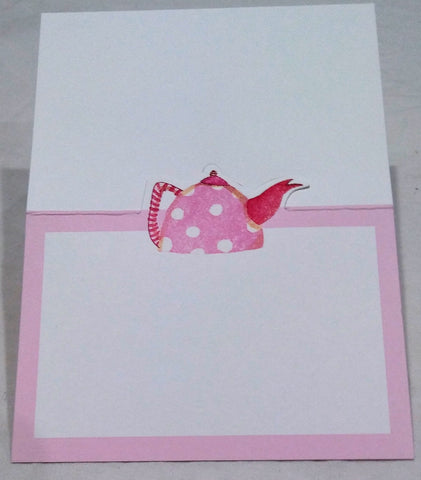 CASPARI TEA PARTY DIE CUT PLACE CARDS