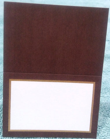 CASPARI BROWN GROSGRAIN PLACE CARDS