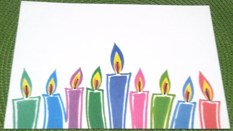 CHANUKAH MENORAH CANDLES - BLANK STOCK INVITATION