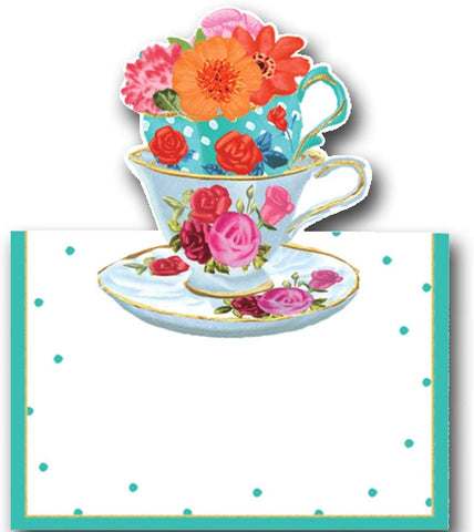 CASPARI TEA CUPS PLACE CARDS