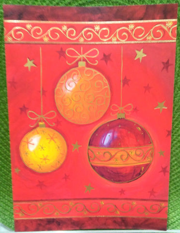 3 ORNAMENT BOXED GREETING CARDS