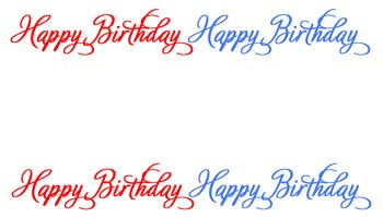 SIMPLE - HAPPY BIRTHDAY PERSONALIZED GIFT OR CALLING CARDS