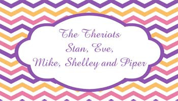 MULTI-COLOR CHEVRON PATTERN PERSONALIZED GIFT OR CALLING CARDS