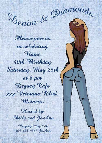DENIM LADY CUSTOM INVITATION