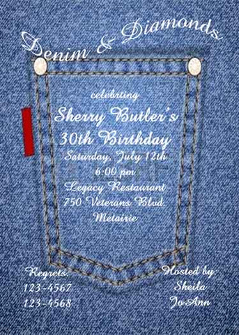 DENIM POCKET CUSTOM INVITATION