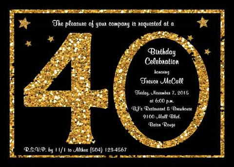 AGE OF GLITTER CUSTOM INVITATION