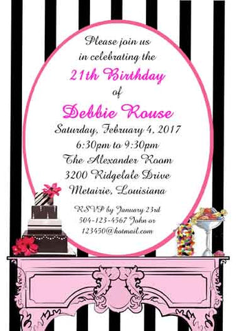 SWEET TREATS CUSTOM INVITATION