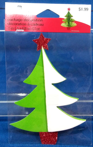 3 D CHRISTMAS TREE PACKAGE DECORATION