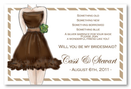 CHOCOLATE DRESS - BLANK STOCK INVITATION