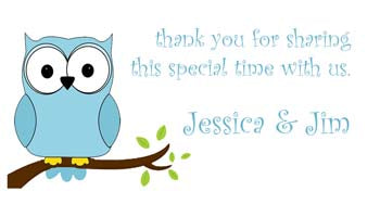 BLUE OWL PERSONALIZED GIFT OR CALLING CARDS