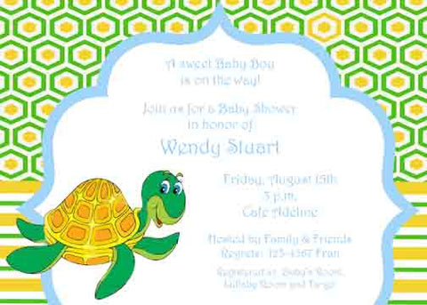 HAPPY TURTLE CUSTOM INVITATION