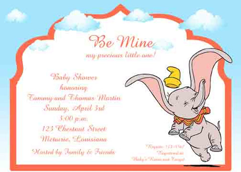 DUMBO FLYING CUSTOM INVITATION