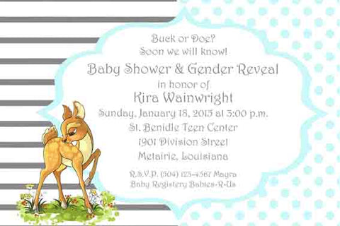 BABY FAWN CUSTOM INVITATION