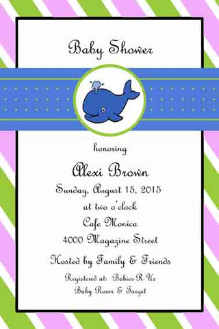 BABY WHALE CUSTOM INVITATION