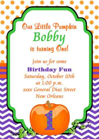 LIL PUMPKIN CUSTOM INVITATION