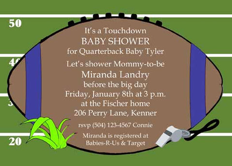 FOOTBALL CUSTOM INVITATION