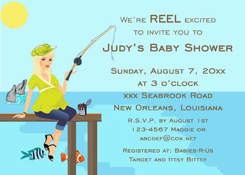 FISHING MOM-TO-BE CUSTOM INVITATION