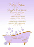 CLAWFOOT TUB CUSTOM INVITATION