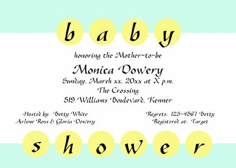 BABY SHOWER IN CIRCLES CUSTOM INVITATION