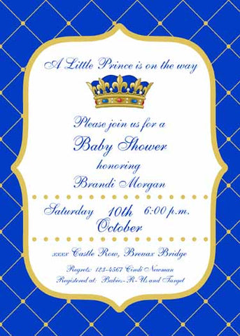 PRINCE CROWN CUSTOM INVITATION