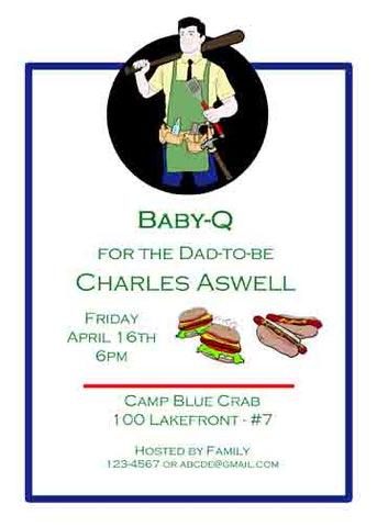 BABY-Q CUSTOM INVITATION