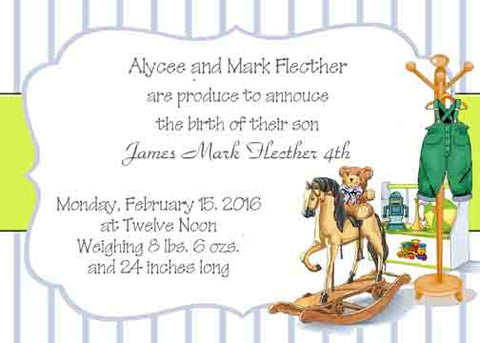 BABY'S ROOM CUSTOM INVITATION