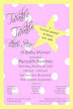 TWINKLE STAR CUSTOM INVITATION