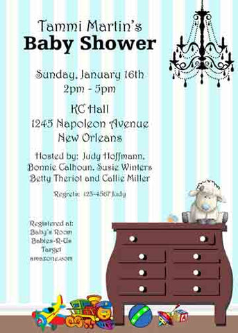BABY DRESSER CUSTOM INVITATION