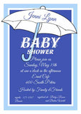 UMBRELLA SILHOUETTE CUSTOM INVITATION