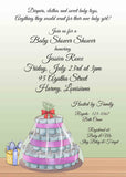 DIAPER CAKE CUSTOM INVITATION