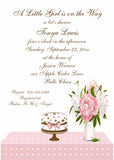 CAKE AND TABLE SCAPE CUSTOM INVITATION