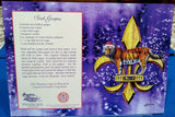 LSU CHRISTMAS TIGER AND FLEUR DE LIS BOXED GREETING CARDS