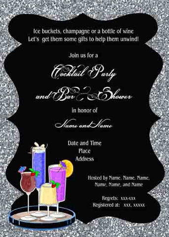 BAR AND GLITTER CUSTOM INVITATION
