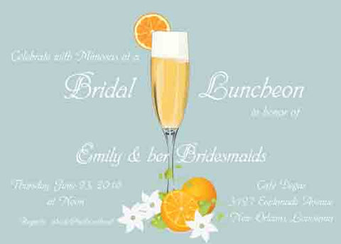 MIMOSA CUSTOM INVITATION