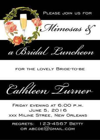 FLORAL MIMOSA CUSTOM INVITATION