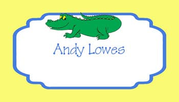 ALLIGATOR PERSONALIZED GIFT OR CALLING CARDS