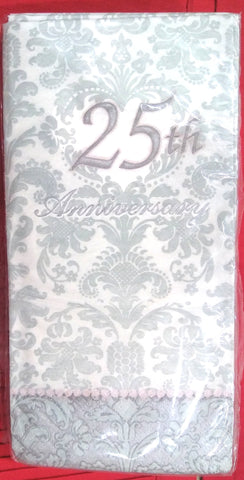 25TH ANNIVERSARY PAPER GUEST TOWELS