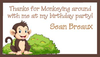 CUTE MONKEY PERSONALIZED GIFT OR CALLING CARDS
