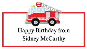 FIRE TRUCK PERSONALIZED GIFT OR CALLING CARDS